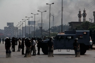 "Police forces refused to let photographers go in Rabaa-Adawiya sit in to document the evacuation ""thank God"""