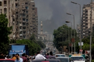 Smoke raises in Nasr city skies